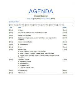 business meeting agenda template business template professional and elegant meeting agenda template example for business meeting and conferences