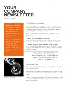 business newsletter templates company newsletter template