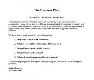 business plan sample pdf non profit business plan templates free word pdf documents free nonprofit business plan template