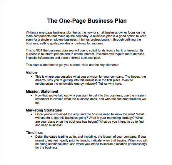 Business Plan Sample Pdf | Template Business