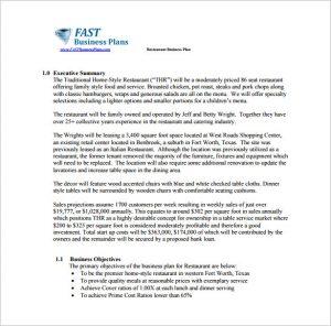 business plan sample pdf restaurant business plan sample pdf free download