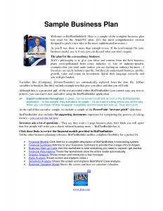 business plan sample pdf sample business plan pdf