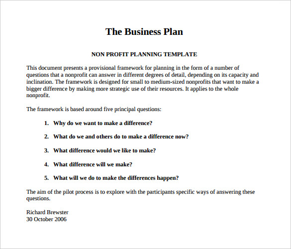 business plan template pdf