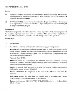 business purchase agreement pdf business sale and purchase agreement