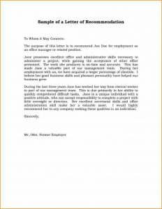 business recommendation letter a letter of recommendation example abfcdeaabdedff