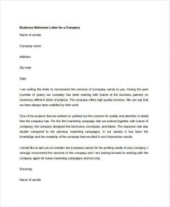 business reference letter business reference letter for a company