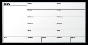 calendar schedule template weekly calendar whiteboard sterling ruby studio ruby dryeraseboard x izvmuu