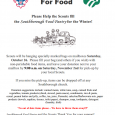 can food drive flyer scouting for food flyer