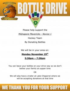 can food drive flyer mavericks hockey powered goallineca bottle drive flyer template bottle drive flyer template