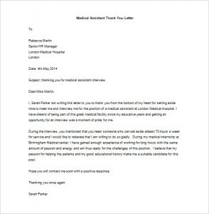 cancellation letter template medical assistant thank you letter