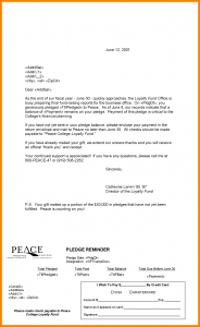 cancellation letter template pledge reminder letter template sample pledge reminder letters