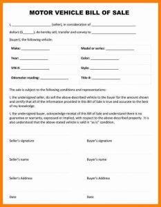 car bill of sale pdf as is bill of sale pdf motor vehicle bill of sale form
