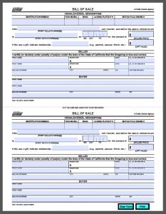 car bill of sale pdf california vehicle bill of sale form