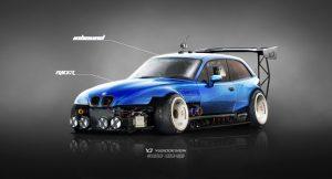 car logo design bmw z m inbound racer v blue by yasiddesign dhix