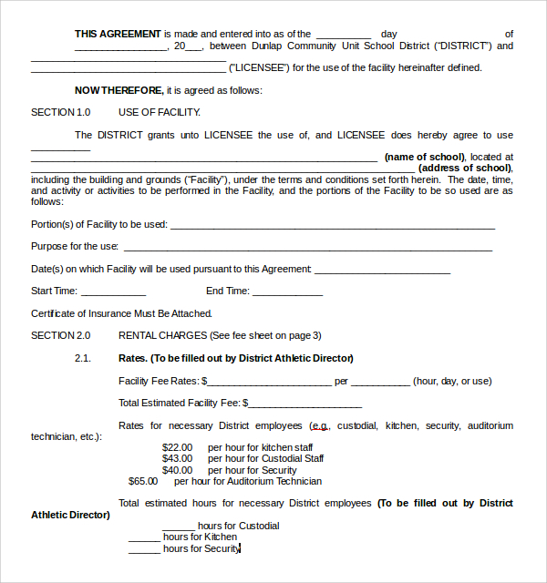 Car Rental Contract Template Business