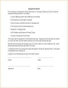 car rental contract simple rental agreement template