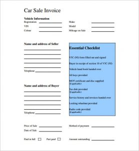 car sale receipt template car sale receipt pdf template uk