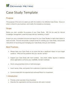 case study format case study template