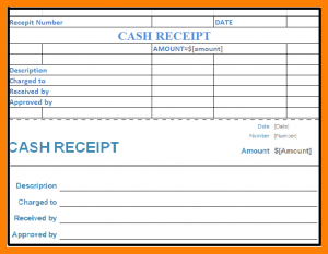 cash receipt template word cash receipt voucher format