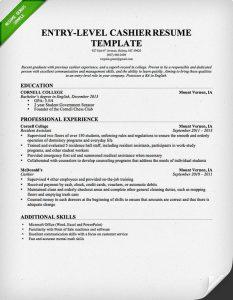 cashier resume sample cashier resume template entry level