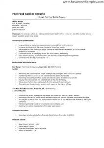 cashier resume sample fast food cashier resume template