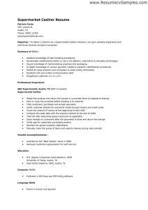 cashier resume sample sample supermarket cashier resume or cashier resume objective examples