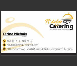caterer business cards ndulgecatering businesscard