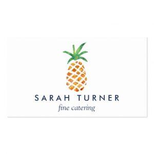 caterer business cards pineapple caterer hospitality standard business card rceaccabecebaf it byvr
