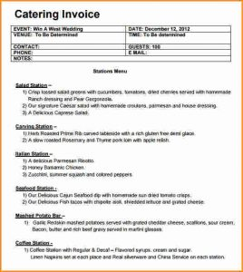 catering invoice template catering invoice template catering invoice template download