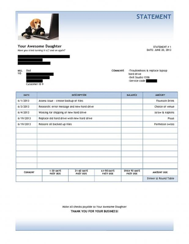 catering invoice template