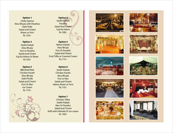 catering menu template