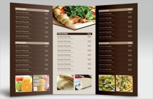 catering menu template tri fold catering menu card template sample download
