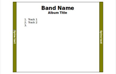cd case template cd jewel case word template free download