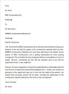 cease and desist harassment complaint letter format