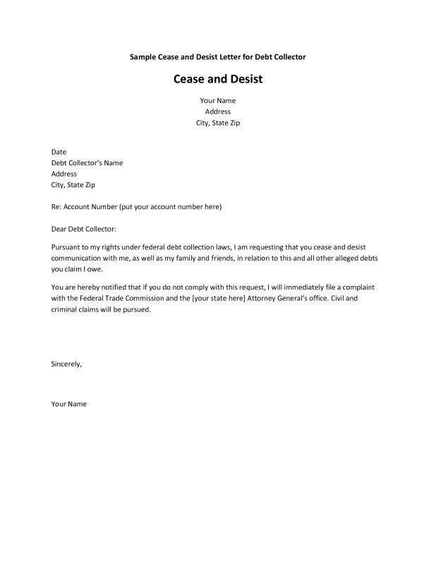 cease and desist letter sample
