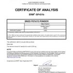 certificate of analysis certificate of analysis european reference materials