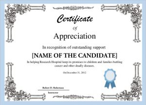 certificate of completion template word free certificate template