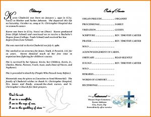 certificate of service template obituary format
