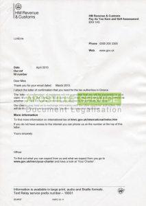 certificate of translation hmrc residence letter cover sheet