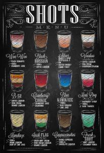 chalk board menu cacfafdce bar shots shots drinks