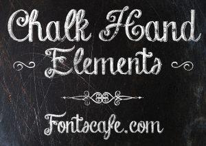 chalk lettering font chalk hand elements