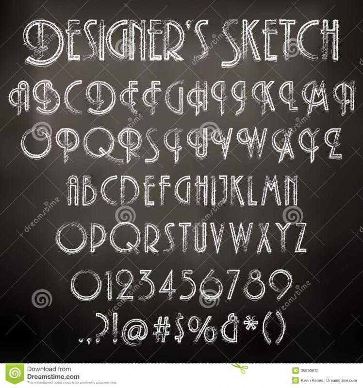 chalk lettering font