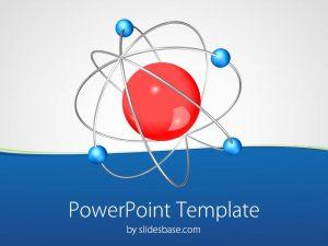 chalkboard powerpoint template datom chemistry science molecular physics neutron proton powerpoint template slide