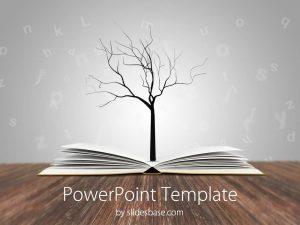 chalkboard powerpoint template book tree education knowledge reading writing learning school teacher powerpoint template slide