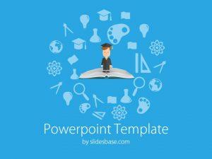 chalkboard powerpoint template slide education book student elementsofeducation powerpoint template
