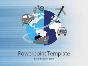 chalkboard powerpoint template slide world bike train ship train plane transport powerpoint template