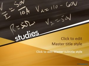 chalkboard ppt template educational ppt template