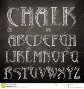 chalkboard writing font chalk alphabet vector sketched chalky blackboard
