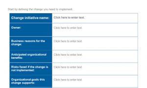 change management planning template change management plan template