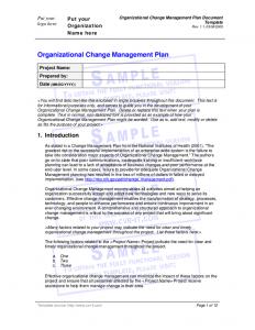 change management planning template organizational change management plan document template